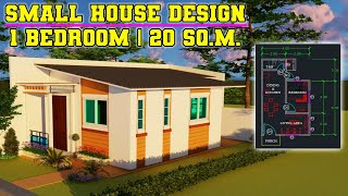 Small House Design Of 20 Sq.m. With 1 Bedroom