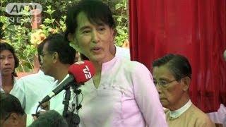 スー・チーさんら選挙妨害を批判 ミャンマー補選(12/03/31) スーチー 検索動画 27