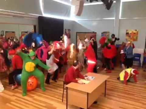 Severndale Specialist School staff Comic Relief Harlem Shake