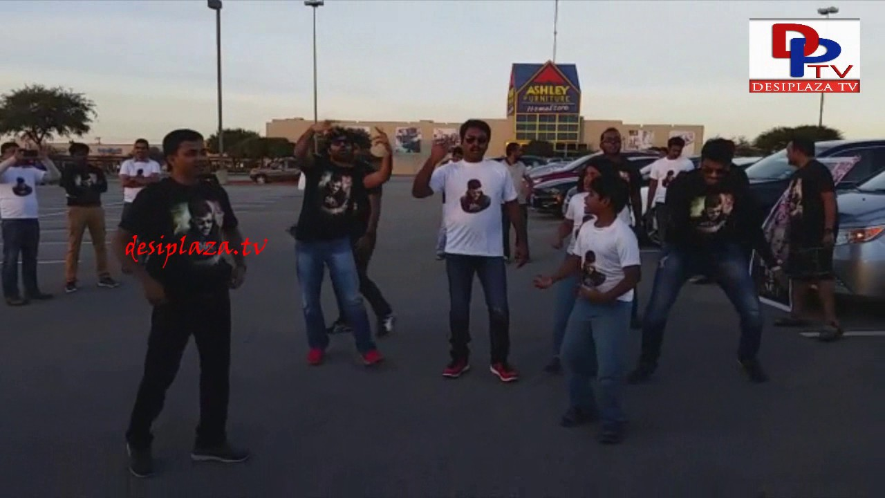 Austin Flash Mob at Megastar Chiranjeevi Khaidi No 150 Release Hungama in Austin, Texas