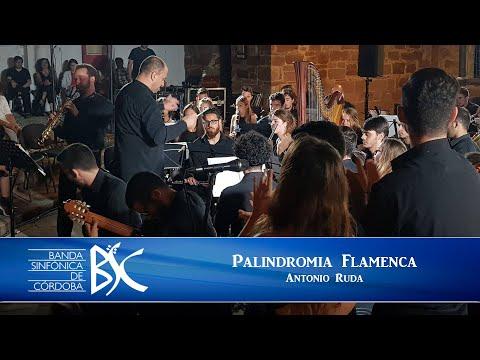Palindromía Flamenca Antonio Ruda Banda Sinfónica de Córdoba Carlos Alcázar y cuadro flamenco
