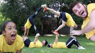GIRLFRIEND TEACHES VLOG SQUAD ACROBATICS!! Video