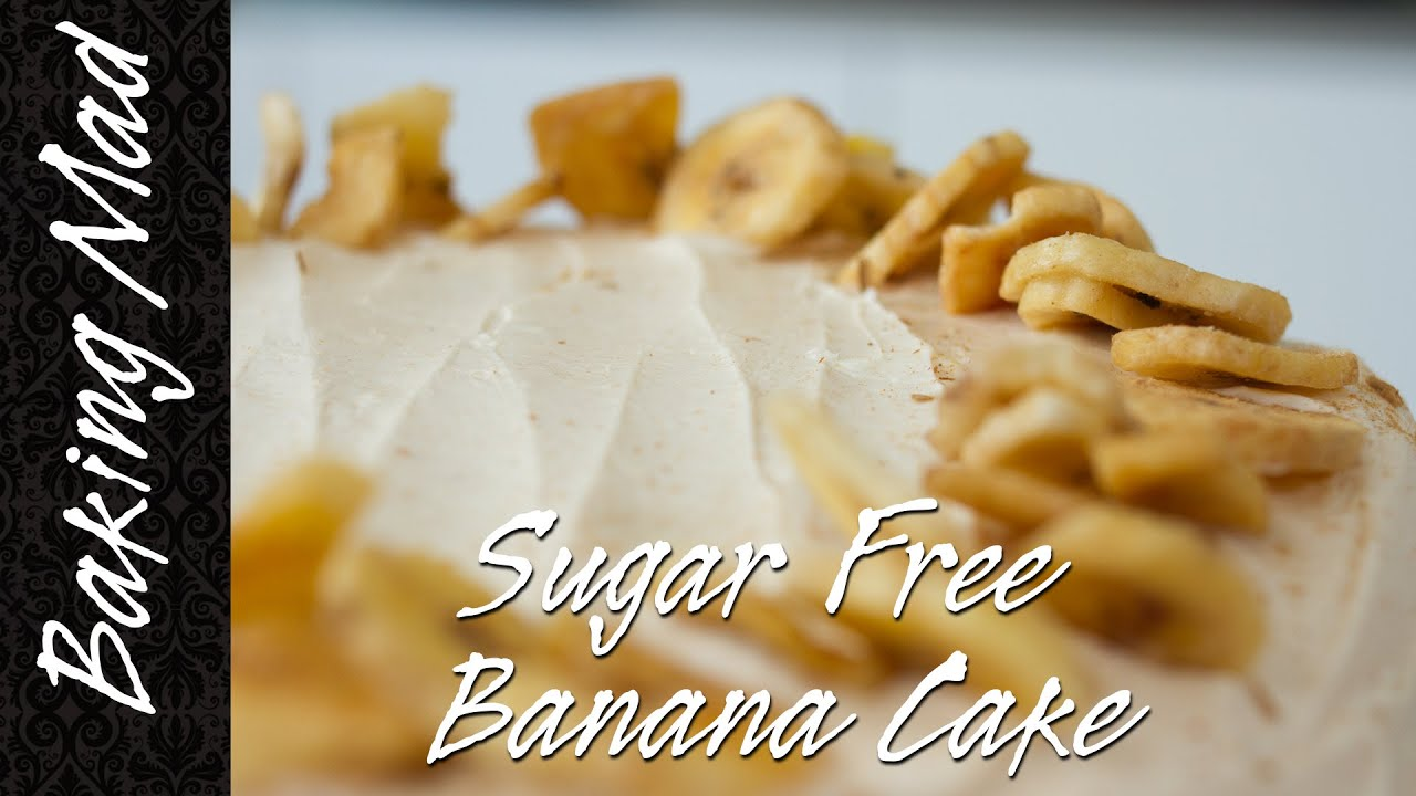 Gluten and Sugar Free Banana Cake Recipe! - YouTube