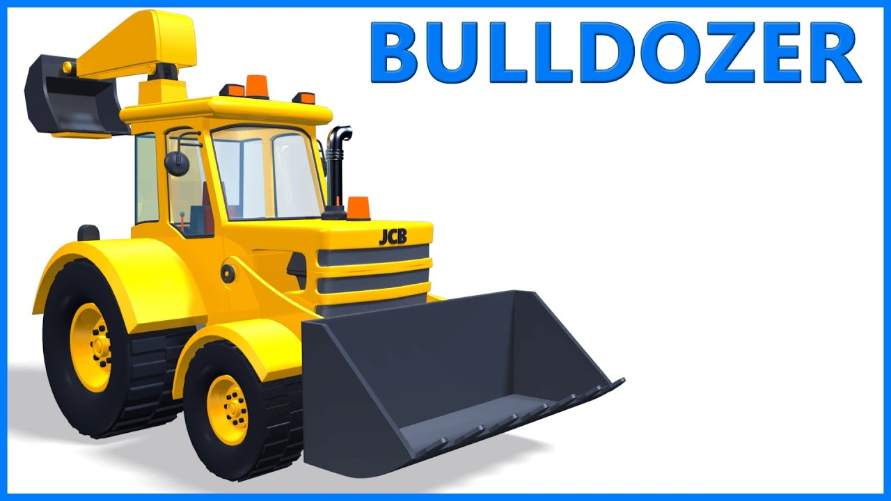 jcb bulldozer cartoon toy truck educational videos poems for