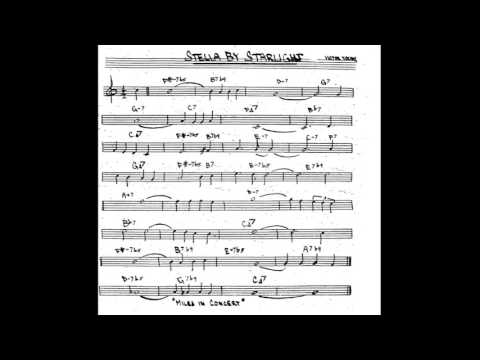 Stella by Starlight  - Play along - Backing track (Bb key score trumpet/tenor sax/clarinet)