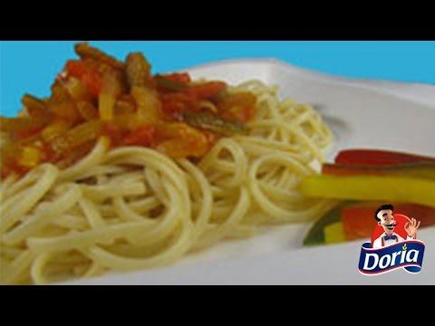 Spaghetti salsa de pimenton