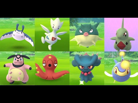 CATCH POKÉMON GO GEN 2 Mantine, Togetic, Larvitar, Miltank, Qwilfish & Lanturn