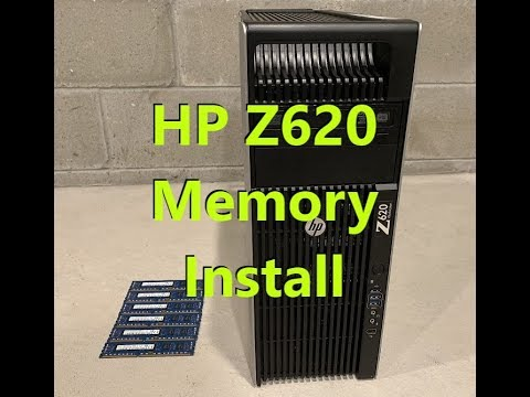 HP Z620 2nd CPU riser board installation memory upgrade e5