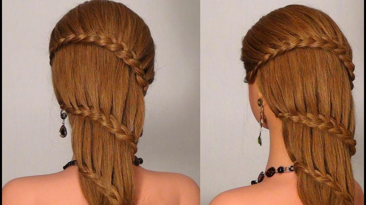Hair Style Of Death: Прическа с плетением на каждый день! Braided Hairstyle For