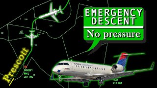 Skywest CRJ-200 suffers DEPRESSURIZATION at 32,000 Feet | Emergency Descent