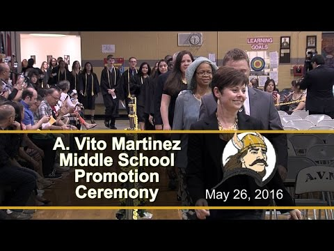 A Vito Martinez Middle School 8th Grade Promotion Ceremony 2016