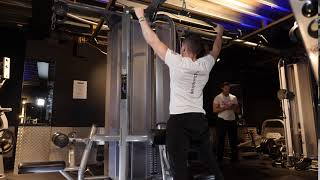 Standing Wide Cable lat pull down