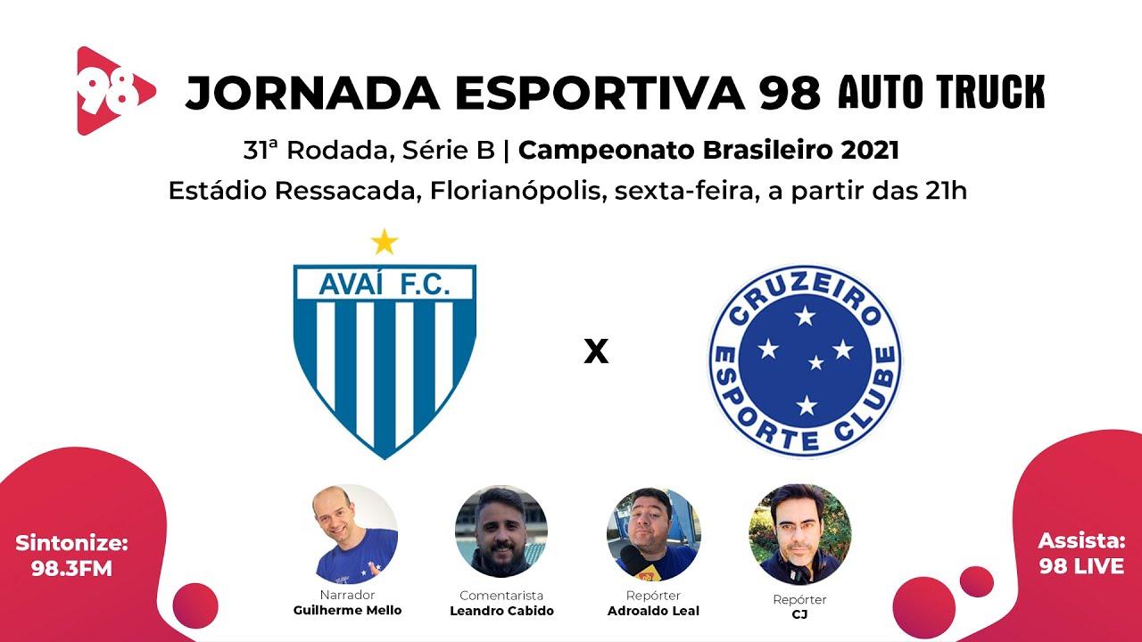 Download AVAÍ X CRUZEIRO - 31ª RODADA DA SÉRIE B, CAMPEONATO BRASILEIRO - AO VIVO RÁDIO 98FM