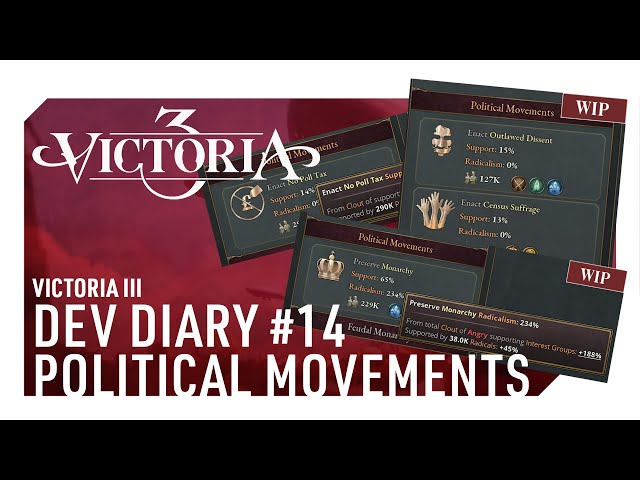 THE POWER OF POPS   Victoria 3's Dev Diary #14 - POLITICAL MOVEMENTS   HForHavoc