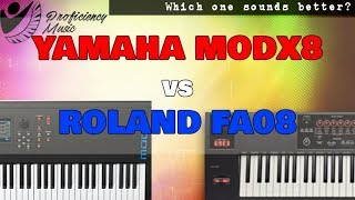 Yamaha MODX8 vs Roland FA08: Which One Sounds Better?
