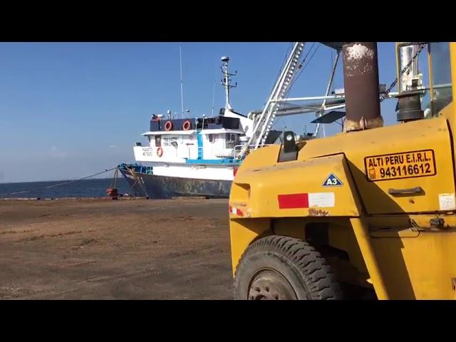 Barco de Ecuador descargó Atún en Pisco
