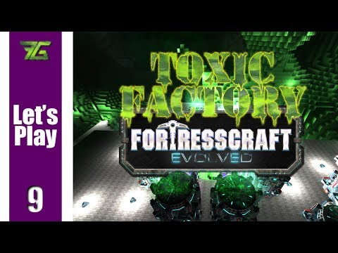 FortressCraft Evolved : Toxic Factory - Ep 9 Leaving The Surface