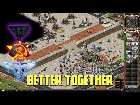 Red Alert 2 - Together Is Better - 7 Vs 1 With Yuri, Allied And Soviets