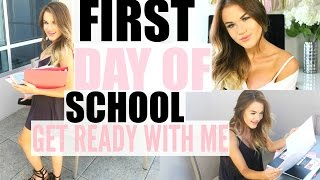 First Day of School Hair, Makeup, and Outfit! | Get Ready with Me