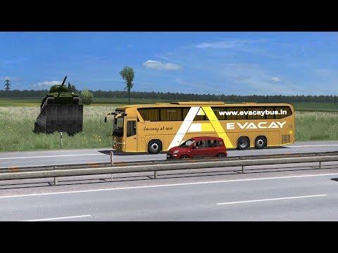 Scania Bus Driving In Russia | Euro Truck Simulator 2