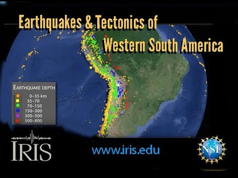 Earthquakes & Tectonics of Western South America