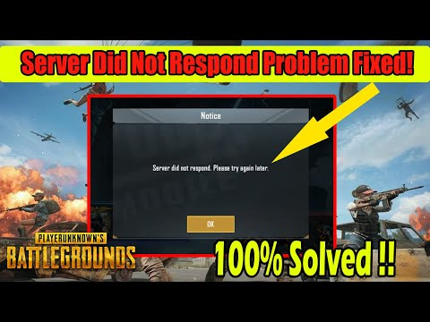 How To Fix Server Did Not Respond Problem In PUBG MOBILE | Request Timeout Problem In PUBG Mobile