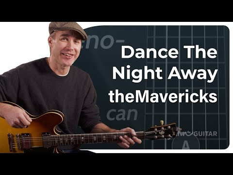 Crazy Easy Beginner Guitar 2 Chord Play Along - Dance The Night Away! Just A & D chords