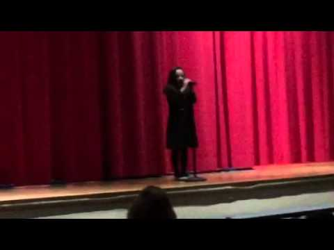 2nd Grader Singing