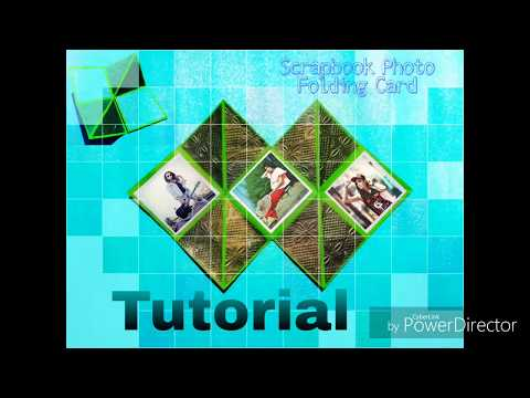 How To Make a Squash Card /DIY Photo Folding Card / For SCRAPBOOK