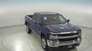 180398 - New, 2018, Chevrolet Silverado, 1500, LT, Blue, Double Cab, Test Drive, Review, For Sale -