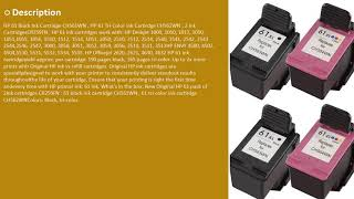 HP 61 Black Ink Cartridge CH561WN , HP 61 Tri-Color Ink Cartirdge CH562WN , 2 Ink Cartridge Reviews