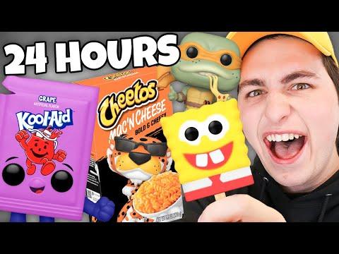 24 Hour Funko Pop Food Challenge!