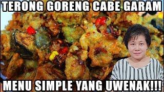 Resep : Terong Goreng Cabe Garam Menu Simple Dan Uwenak Tenan!!!