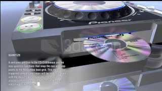 3D Ocean   Pioneer CDJ2000nexus Limited   Cinema 4D