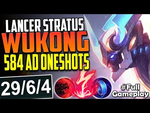 LANCER STRATUS WUKONG | 584 AD 6 ITEMS CRAZY ONE SHOTS | Wukong TOP LANE BUILD PBE SEASON 8 Gameplay