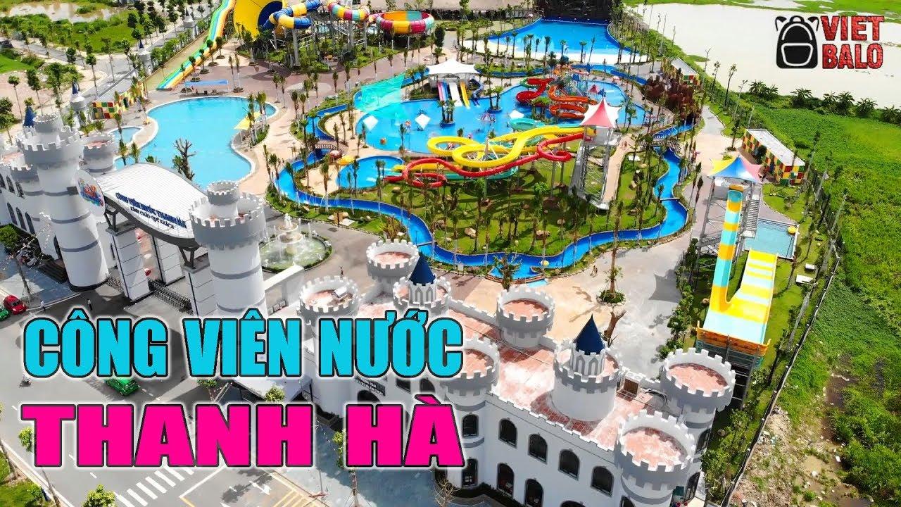 Công viên nước Thanh Hà của đại gia Thanh Thản mới khai trương nhìn từ trên cao