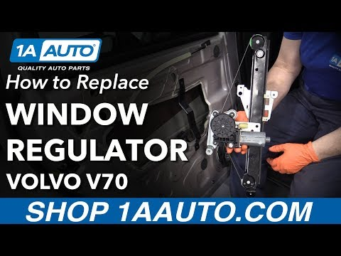 How to Replace Rear Window Regulator 01-07 Volvo V70