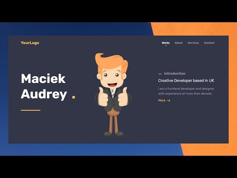 Build  Responsive Portfolio Website Just in 60 Minutes   HTML CSS JS   2021   Coding Frame