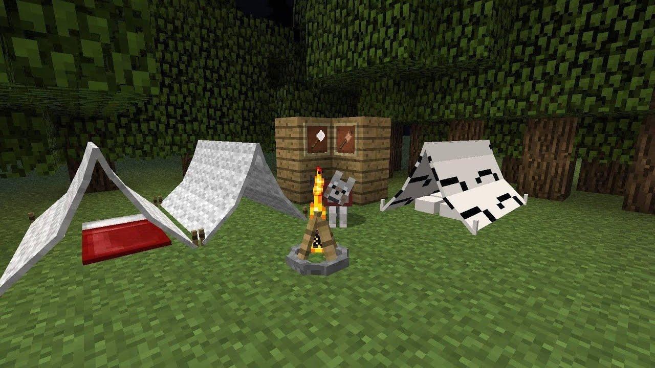 Картинки палатка в майнкрафт