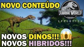 JURASSIC WORLD EVOLUTION NOVA DLC, NOVOS DINOS E MAIS!!!!!