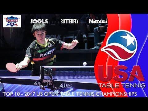 USATT Top 10 - 2017 US Open Table Tennis Championships
