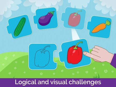 Learning Shapes, colors, Matching Puzzles Game for kindergarten children/toddlers