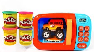 Play Doh with Surprise Toys Cars Microwave Magic Toys