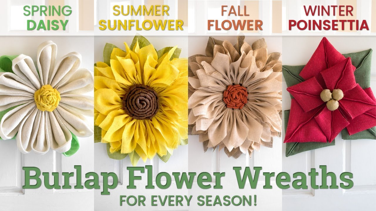 082bf252a How to Make Burlap Flower Wreaths for Every Season | OFS Maker's Mill