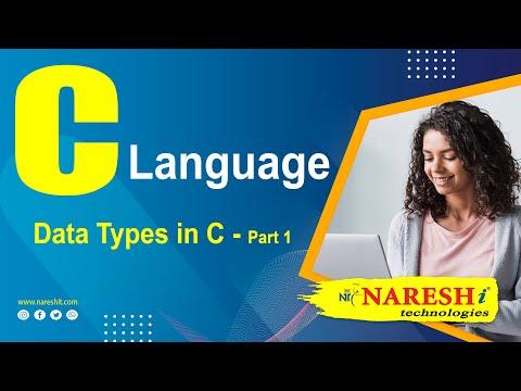 Data Types In C - Part 1   C Language Tutorial   Mr. Srinivas
