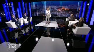 O Άδωνις Γεωργιάδης με την Έλλη Στάη στο Open Mind στο Open 18/04/2019