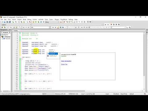 C Programming Language Tutorial  [Arabic] -define and typedef thumbnail