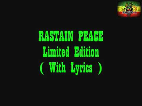 Rastain Peace - Limited Edition + Lirik