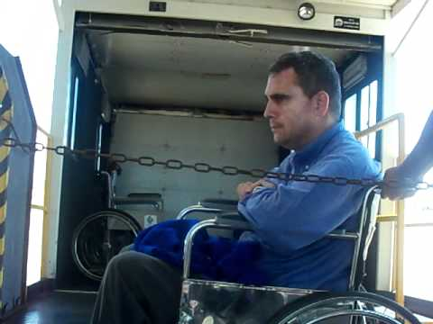 Catering Truck As a Wheelchair Lift in Montevideo Airport