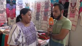 Exhiben artesanías de Oaxaca en la Fenaza